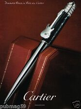 Publicité advertising 2007 Le Stylo Cartier Diabolo Rock'n Roll