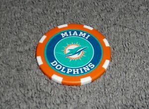 NFL MIAMI DOLPHINS SOUVENIR COLLECTIBLE POKER CHIP GOLF BALL MARKER