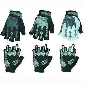 Reflective Cycling Gloves Sports Gel Fingerless Gloves QEPAE
