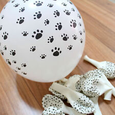 "12"" Dog Print  Puppy Animals Paw Latex Balloons Party Decor Black White 10pcs"