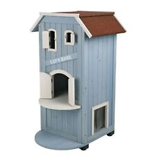 New listing Wood Cat House Trixie 3 Story Outdoor Pet Condo Playground 3' Tall Trixie Pet