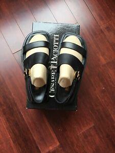 cesare paciotti mens Sandals In Blk Size 8 With Box