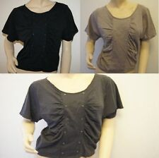 Topshop Crew Neck Cropped Casual Tops & Shirts for Women