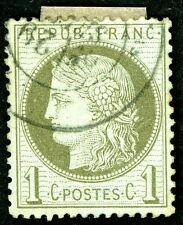 FRANCE 1870-1873 USED SCOTT 50 & SCOTT 51 'CERES' POSTAGE STAMPS