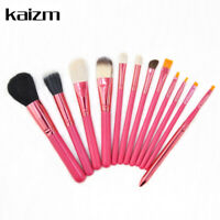 12Pcs Red Cosmetic Makeup Brushes Set Foundation For Girl Gift Hot Useful