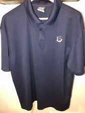 Nike Golf Dri-Fit Short Sleeve Navy Blue Polo Shirt Mens Xl Re Logo