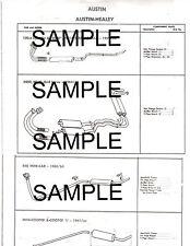 VAUXHALL VICTOR SUPER  SERIES II ESTATE FB VX-4/90 EXHAUST SYSTEM PARTS DIAGRAMS