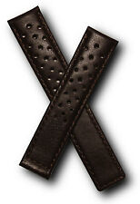 Brown Sports leather strap to fit Tag Heuer Carrera models as listed
