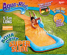 *NEW* Aqua Ride MEGA DRIFT Super Slick Sliding Surface Water Slide 5.5m Long