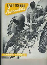 (3A) REVUE TECHNIQUE TRACTEURS AGRICOLES 1961 RENAULT MC CORMICK MASSEY FERGUSON