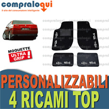 TAPPETI PER ALFA ROMEO 164 TAPPETINI AUTO SU MISURA + 4 DECORI TOP RICAMATI