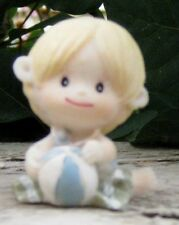 "Blue 1 1/2"" Crawling Baby Boy Figurine"