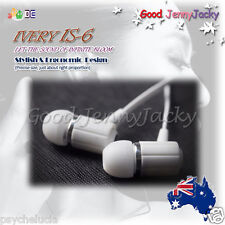 IVERY IS-6 Hi-Fi Super Bass In Ear Monitor Earphoneaudiophile -iPod iPhone MP3