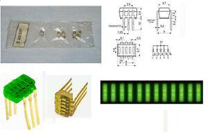 10 x Vintage LED 5-Segment Bargraph Array Green Indicator ALS317G