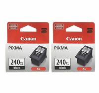 Canon 240XL Black Ink Cartridges, Twin Packages, New, Genuine, Retail Box