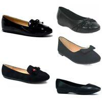 Women Ladies Girls Black Office Casual Nurse Hospital Work School Walk Shoe Size