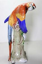 "STUNNING 12"" Sitzendorf Porcelain Macaw Parrot Figurine MINT"