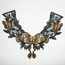 Embroidered Venise Butterfly Neckline Collar Trim Clothes Applique Sew Patches