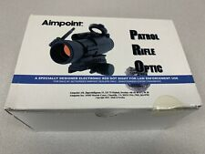 Aimpoint PRO Patrol Rifle Optic Red Dot Sight QRP2 Mount 12841 w/ Flip Covers