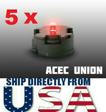 5 X High Quality MG 1/100 QANT Raiser Gundam RED LED Lights - U.S.A. SELLER