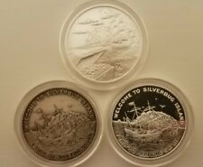 2015 silver bug island 3 coin set proof, reverse proof, antique - BUX! Silverbug