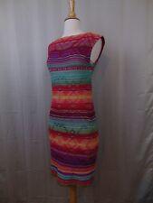 $220 LAUREN Ralph Lauren Petite Cap Sleeve Stripe Knit Sweater Dress PXS #427