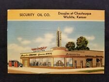 Wichita KS Kansas Advertising Postcard Security Oil Company Gas Service Station