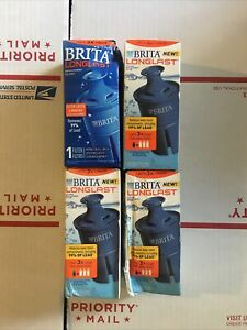 BRITA LONGLAST REPLACEMENT FILTERS - 4 FILTERS Filter Lasts 6 Months 120 Gallos