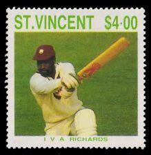 St. Vincent 1988-Cricketer I V A Richards-1 Value-MNH-S.G. 1151