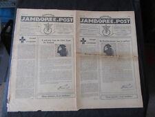 1937 World Jamboree Issue #2 of Jamboree Post Newspapers in Dutch & English   k3