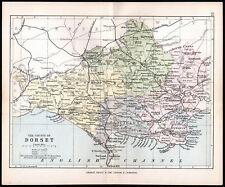 COUNTY OF DORSET 1891 George Philip & Son ANTIQUE MAP