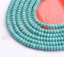 16'' Stabilized Turquoise White Howlite Gemstone Rondelle Spacer Beads 6MM-14MM