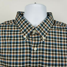 Eddie Bauer Wrinkle Free Relaxed Fit Mens Check Oxford Dress Shirt TXL XL Tall