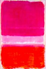Mark Rothko violet pink white Abstract Canvas wall art large 20 x 30 Inch A1 big