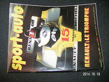 Sport Auto n°211 JP Jabouille GP France & Angleterre Louis Chiron Fangio