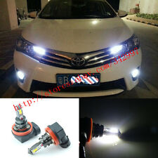 2x Error Free H11 CREE 20W LED Fog Lights DRL Bulb For Toyota Corolla 2013-2016