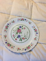 VINTAGE JAPAN SPRING NIGHT FINE CHINA LARGE ROUND FLORAL PLATTER PLATE DISH