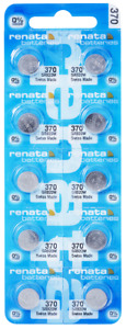 Renata 370 SR920W 1.55 V Watch batteries x 10 pieces