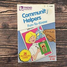 Trend Enterprises Community Helpers Fun To Know 20 Vtg Fact Filled Cards 1986