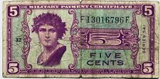 USA 5 CENTS-DOLLAR 1951 MILITARY PAYMENT CERTIFICATE UNITED STATES OF AMERICA