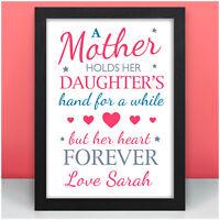 PERSONALISED Birthday Mother and Daughter Mum Mummy Gifts for Her Mum Mam