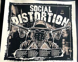RARE SOCIAL DISTORTION ORIGINAL 2011 FALL US TOUR SCREEN PRINT POSTER S/N #/700