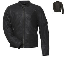 Black Erebus Leather Motorcycle Jacket Cruiser Motorbike Casual Bike CE Armoured