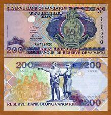 Vanuatu, 200 vatu, ND (1995), P-8a, AA-Prefix, UNC