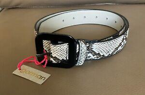 Gorman Snake Skin Vegan Leather Belt Size 1 BNWT RRP$69 Accessories