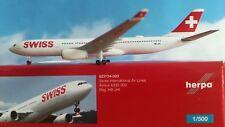 Herpa Wings 1:500 523134-003 Swiss International Air Lines a330-300 HB-jhi Genev