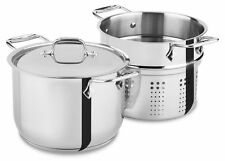 All-Clad Stainless Steel 6 qt. Pasta Pot w/Insert E414S664 NEW NO TAX to 99% US!