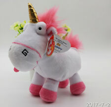 Ty Despicable Me 3 Lovely Fluffy Unicorn Soft  Plush Doll Toy
