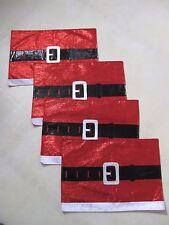 Christmas / Santa Placemats / Set of 4 / Metallic Shine Material / BNWOT