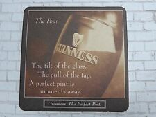 Beer Coaster ~*~ Guinness Stout <> Perfect Pour Instructions! <> Dublin, Ireland